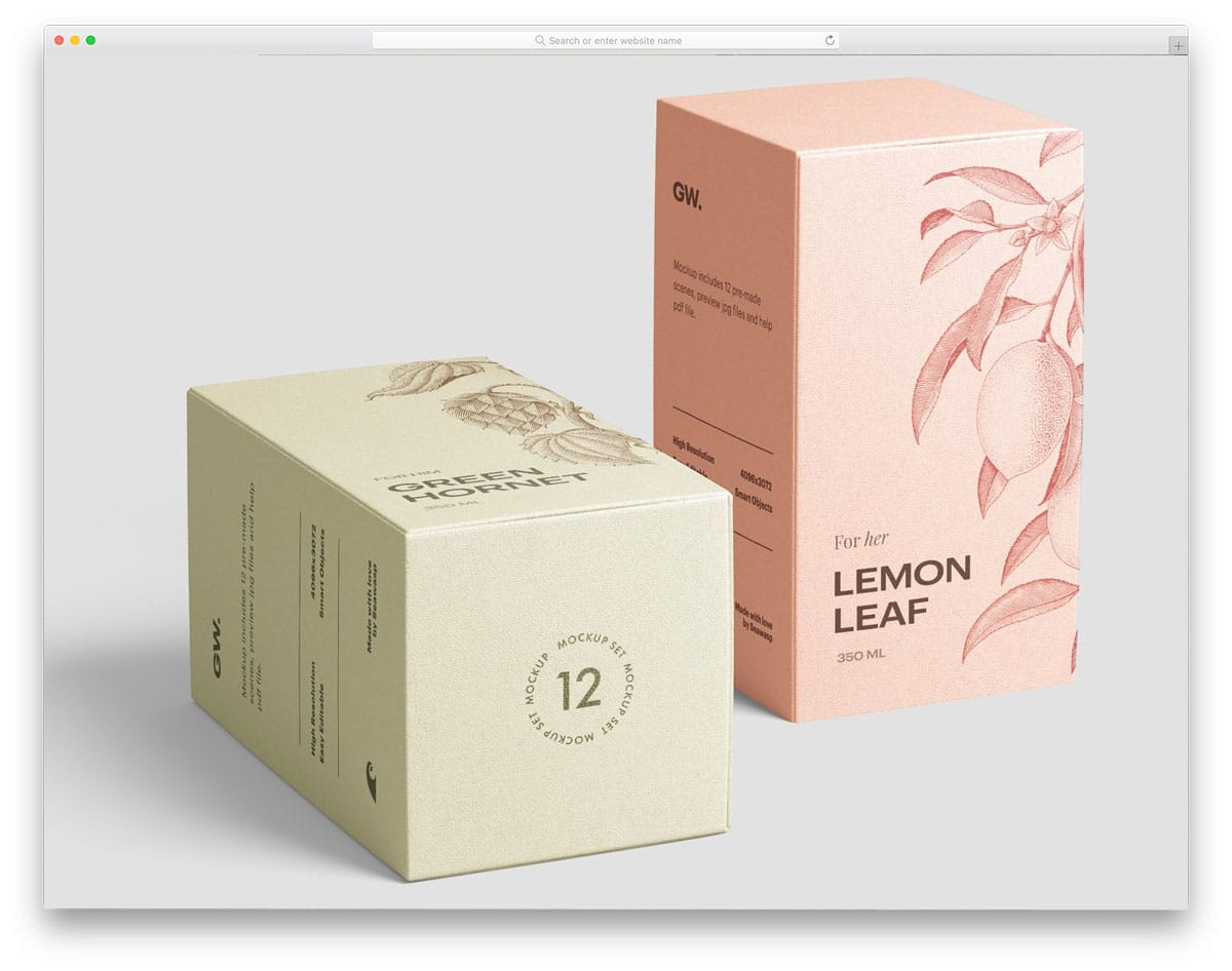 reactangular and square packaging mockups