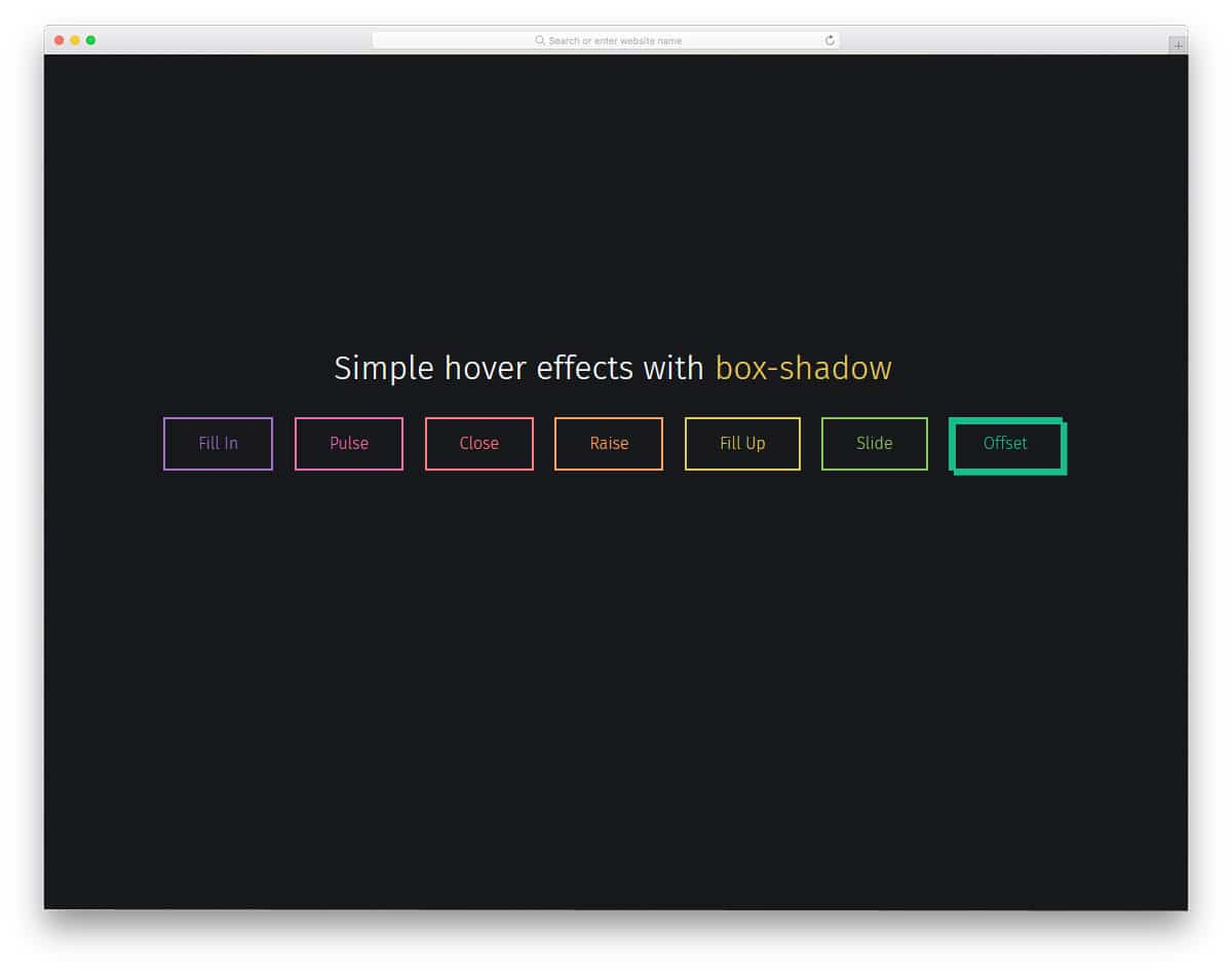 hover effects for links