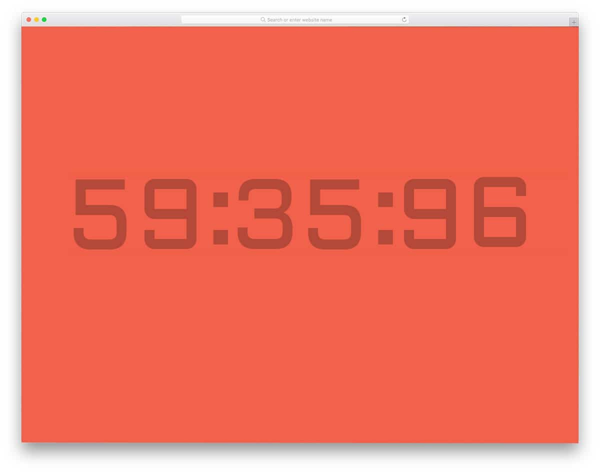stylish looking countdown timer design