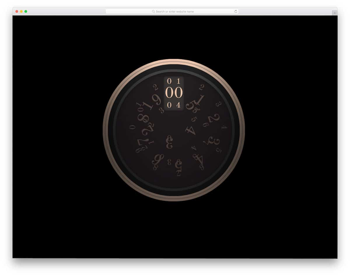 Customizable Clock Face Template from uicookies.com