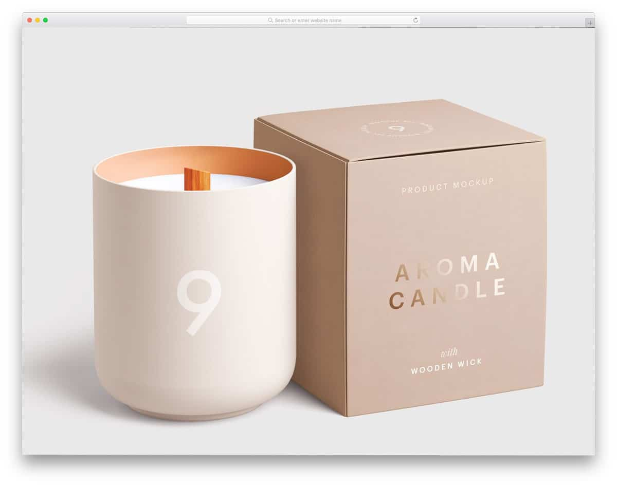 mockup collection with candle and box mockups