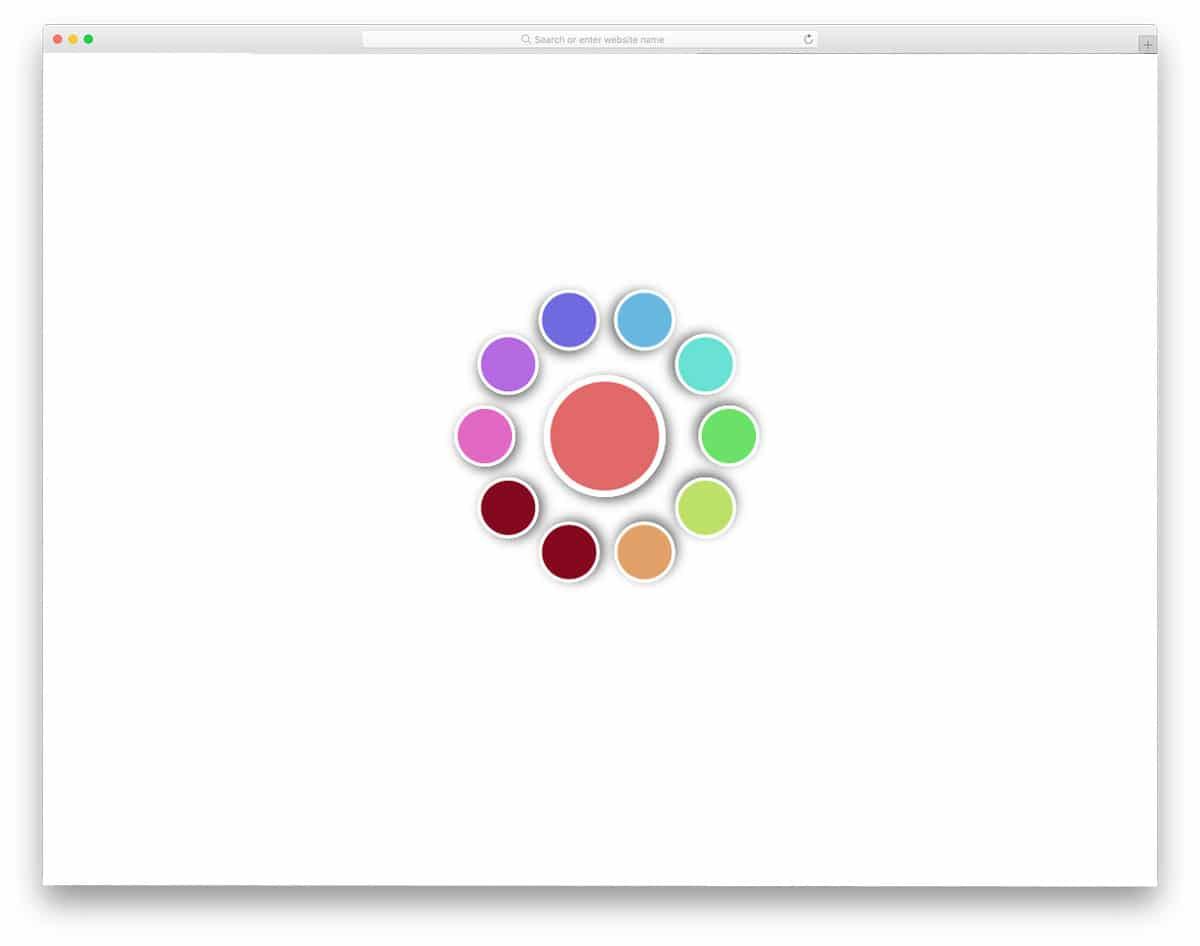 circular color palette