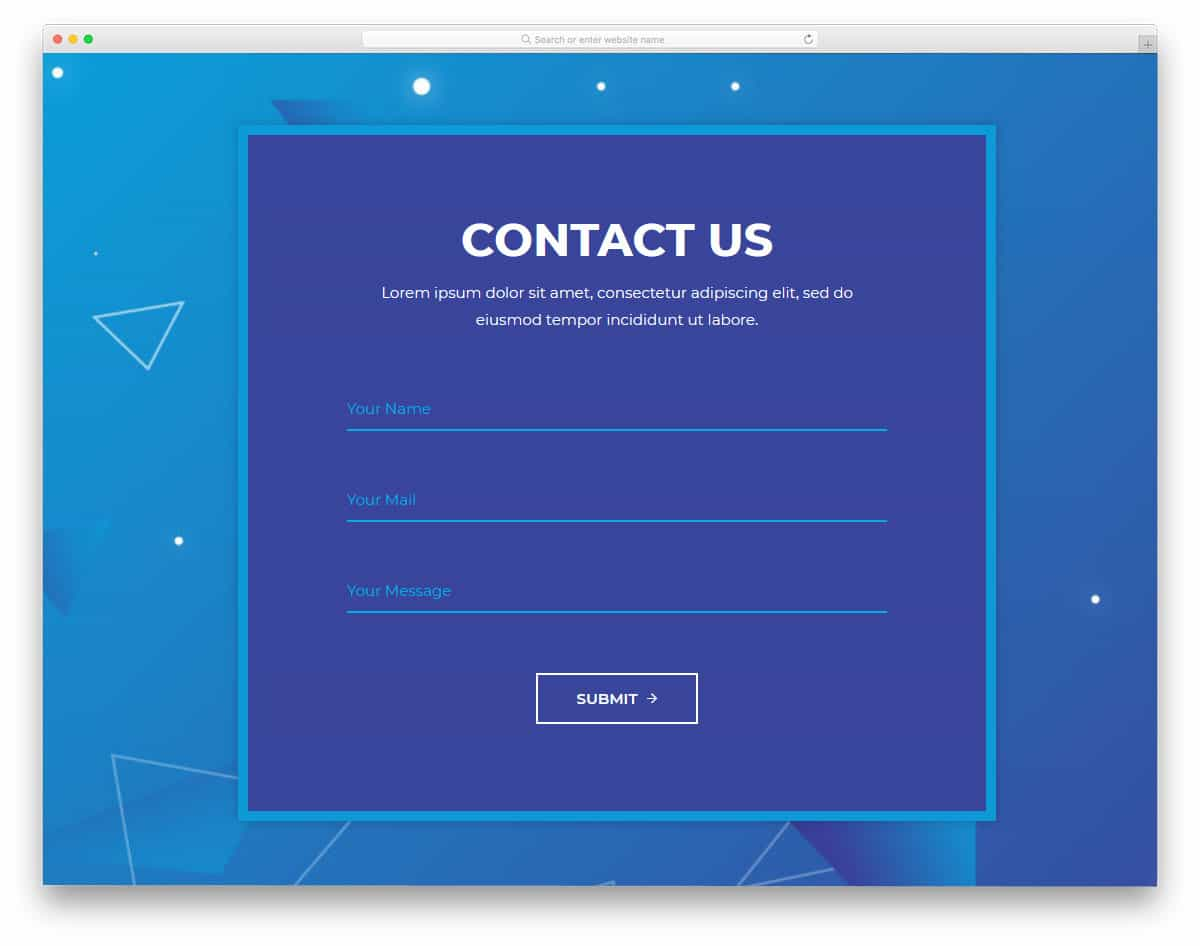 clean ideal contact form template design