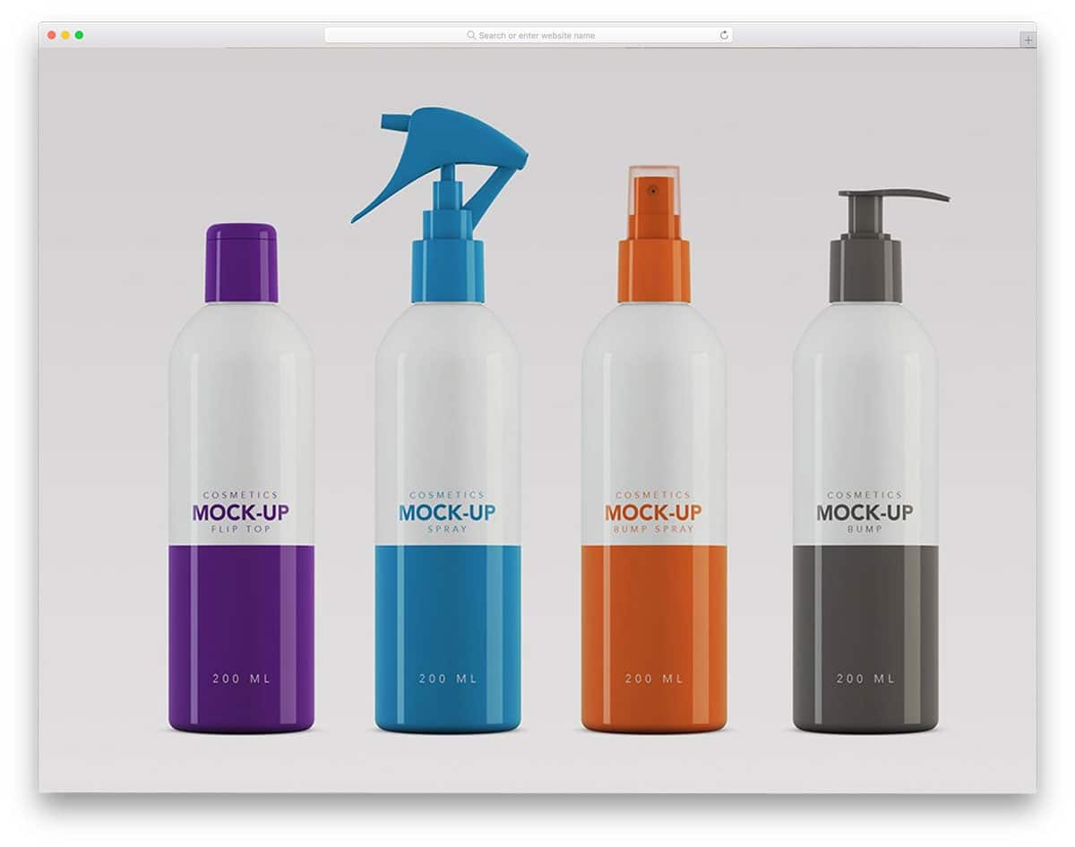 packaging mockups for cosmetic products