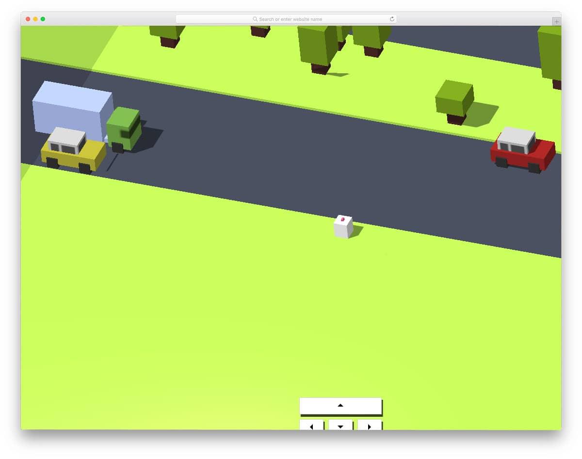arcade style threejs game example