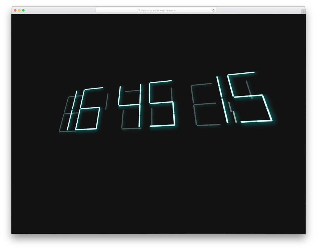 interactive modern digital clock