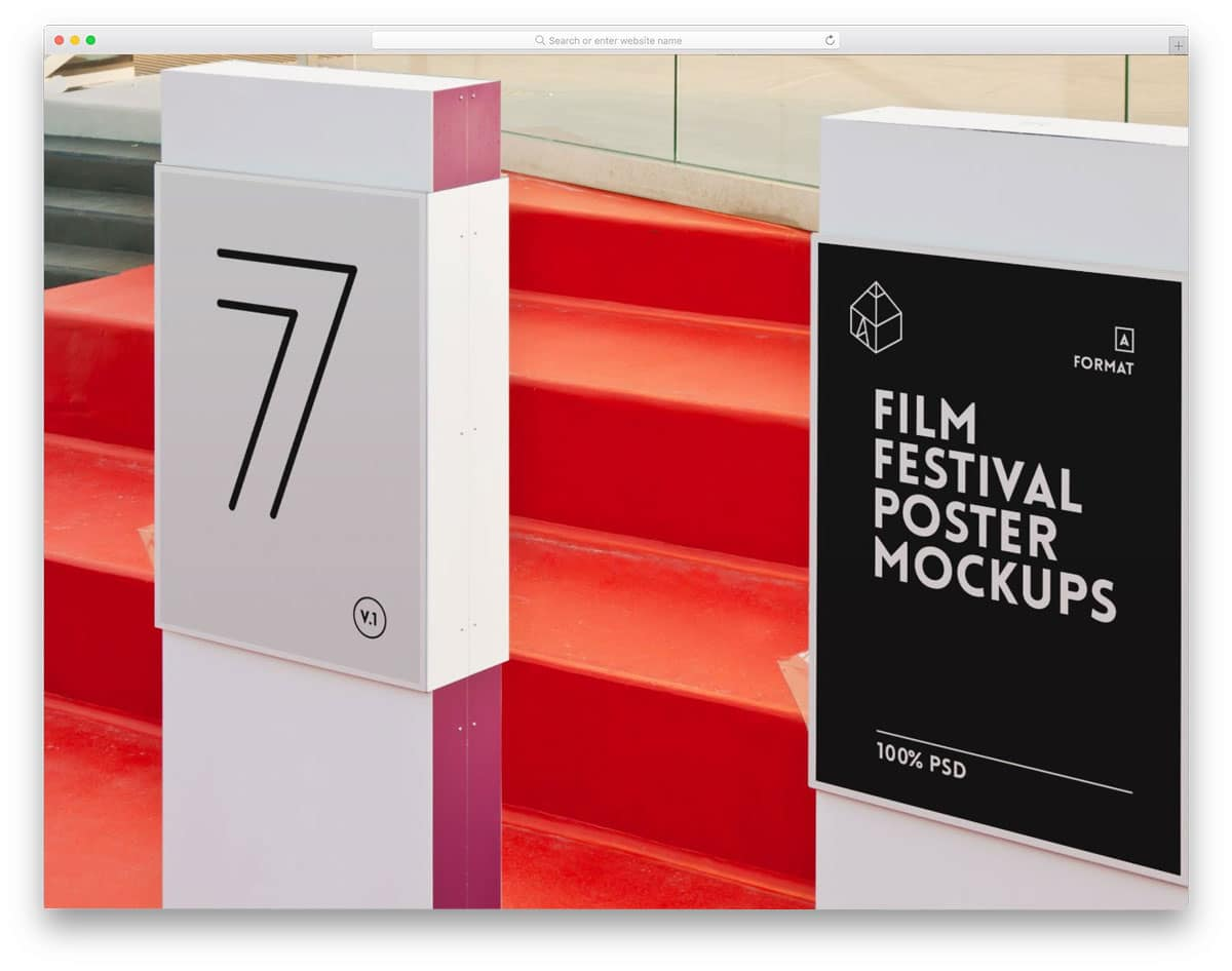 rich and realistic film festival poster mockups