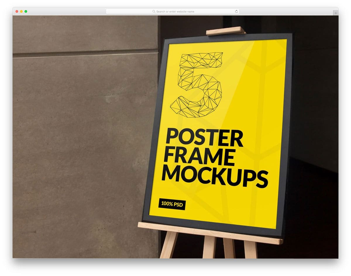 poster mockups for neat presentation