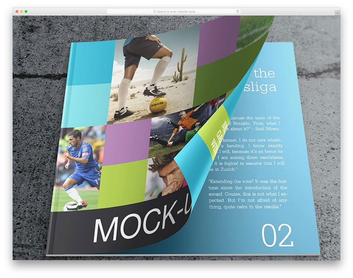 dual purpose mockup for magazine and catalog