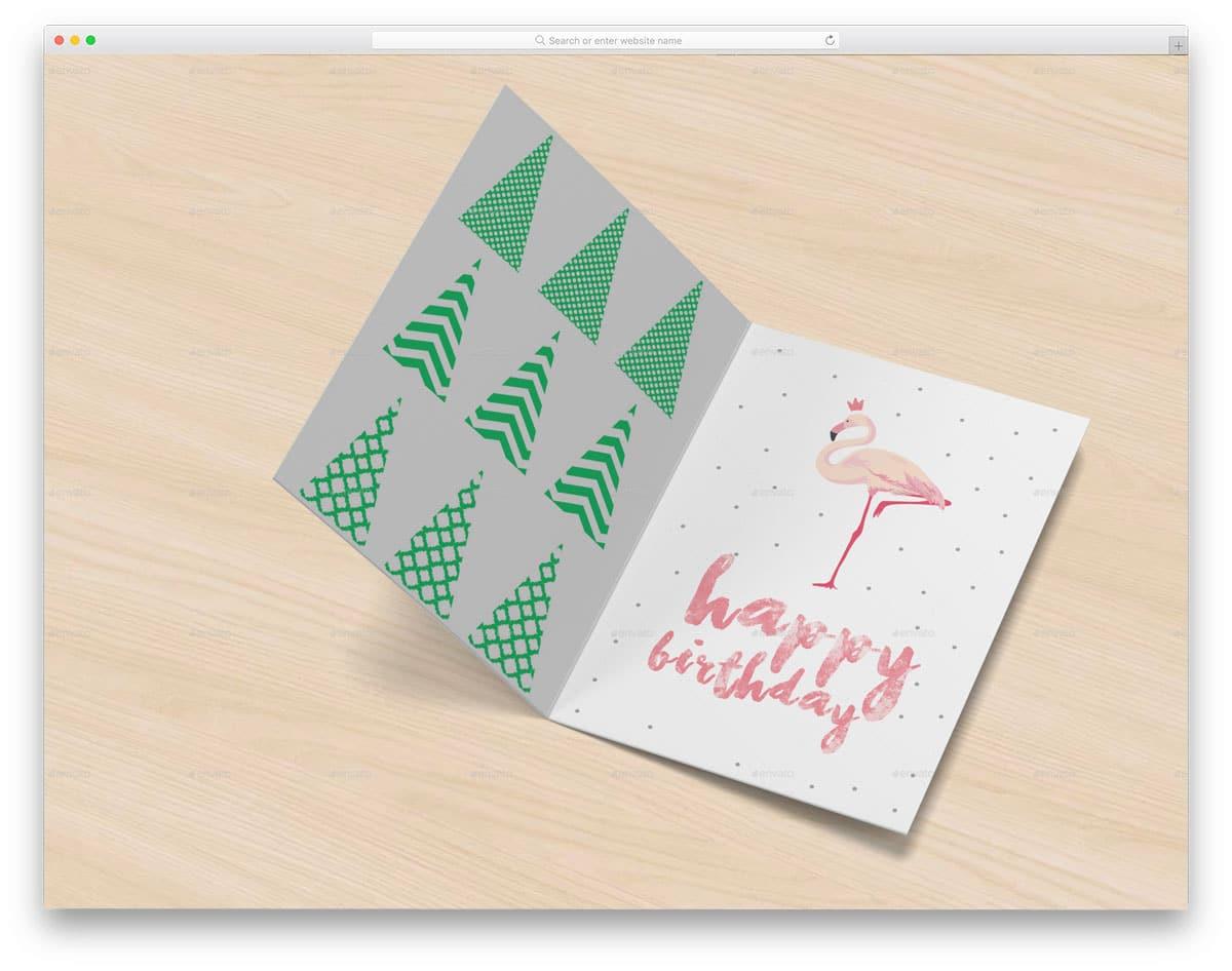 simple and neat invitation mockup
