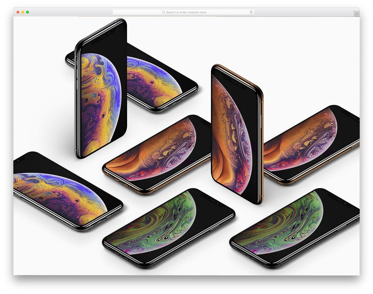new iPhone XS mockups