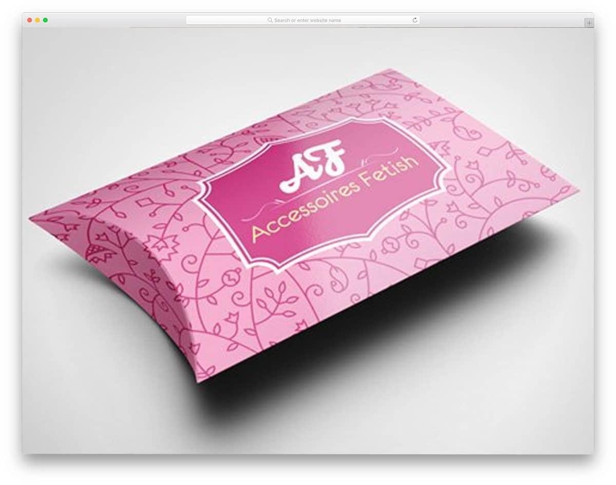 box mockup for pillows