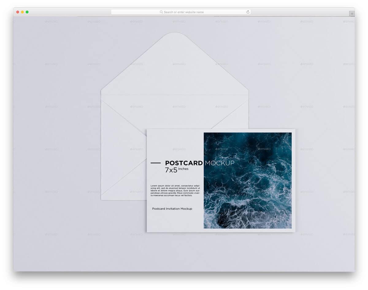 postcard size invitation mockup