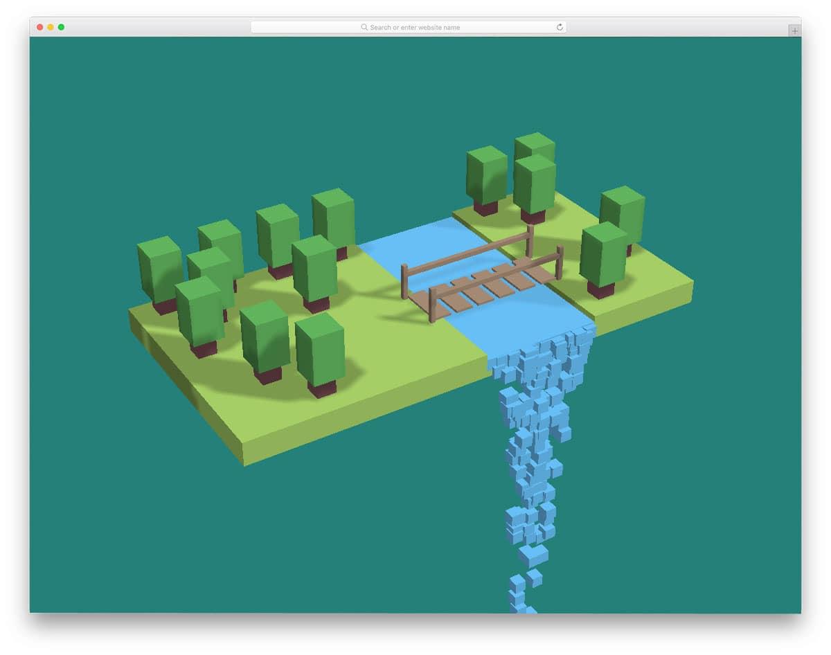 animates forest stream example