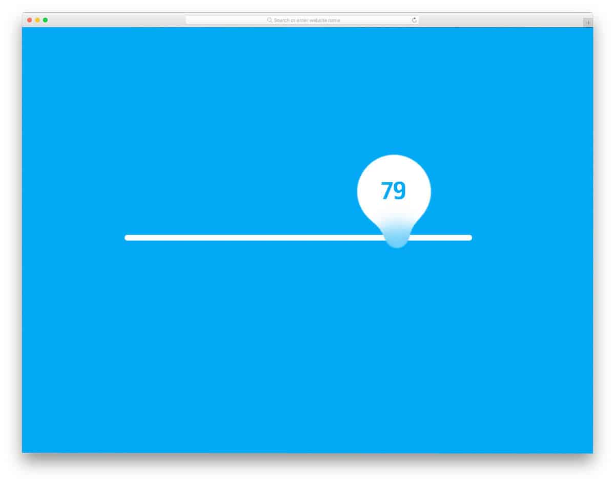 animated baloon style range slider