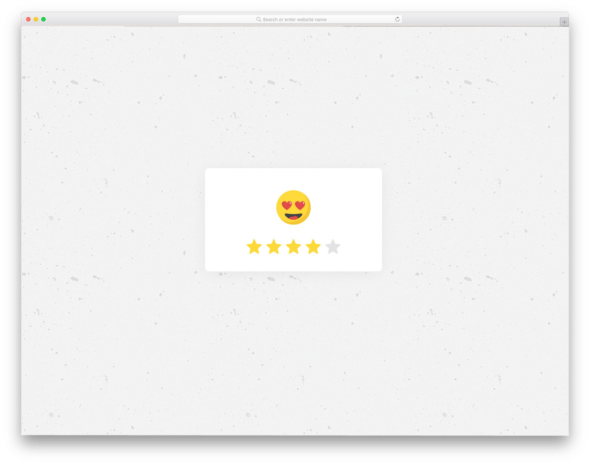 emoji-based star rating design