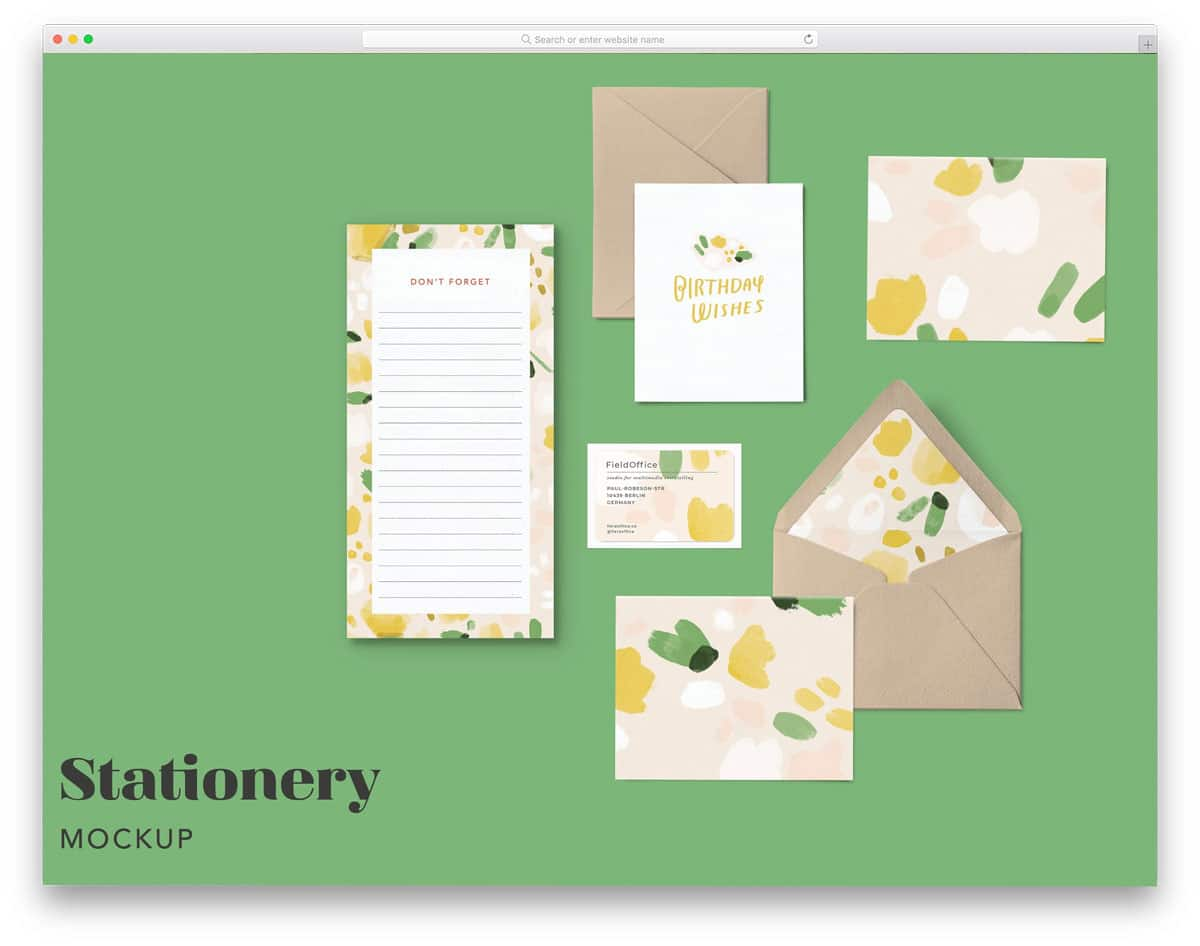 envelope and stationary mockup bundle