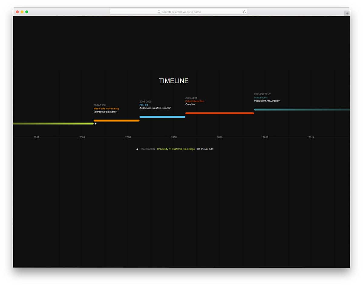 simple timeline design concept