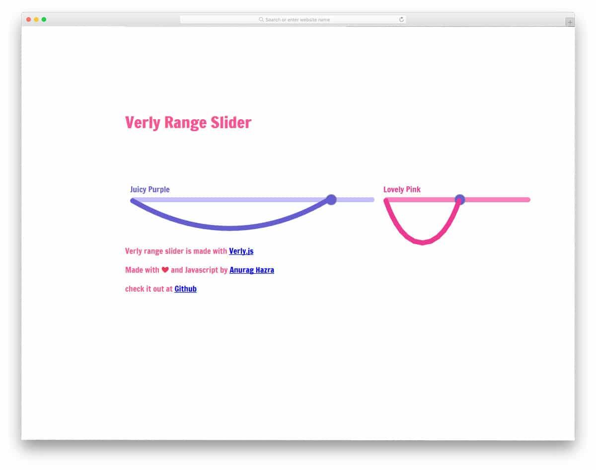 funky style range slider