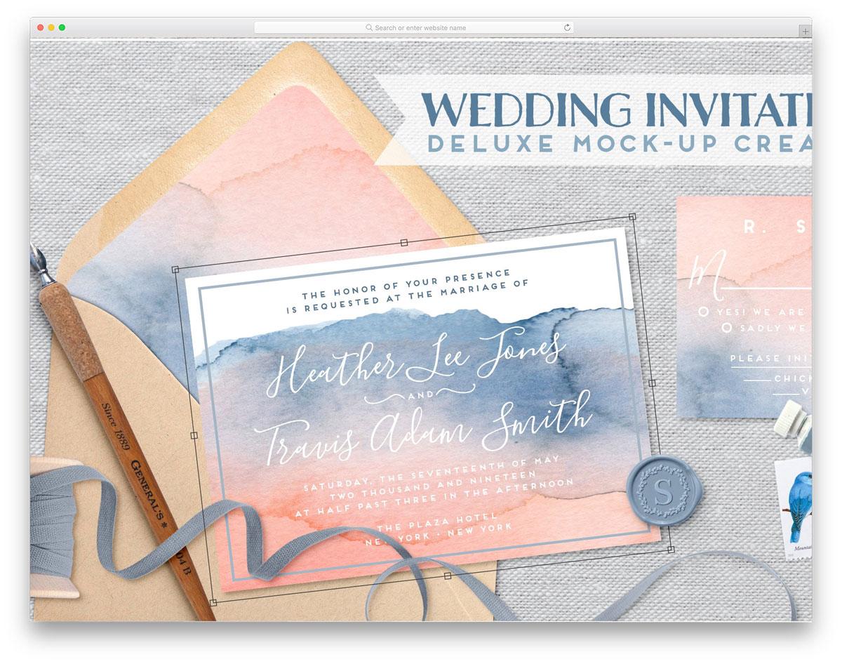 invitation scene creator with useful customization options