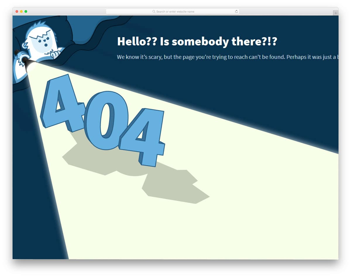 animated error page template
