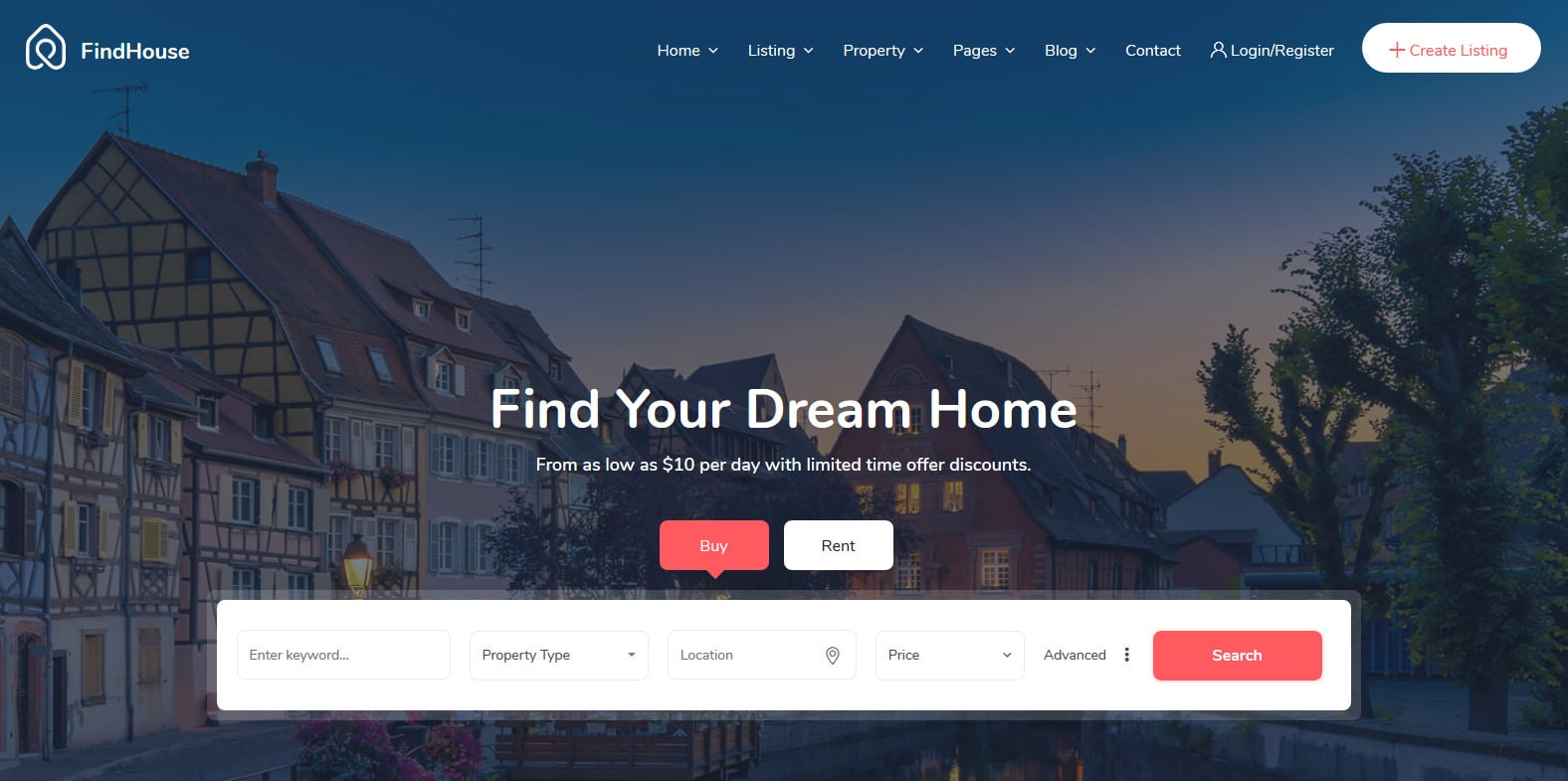 findhouse-real-estate-website-template