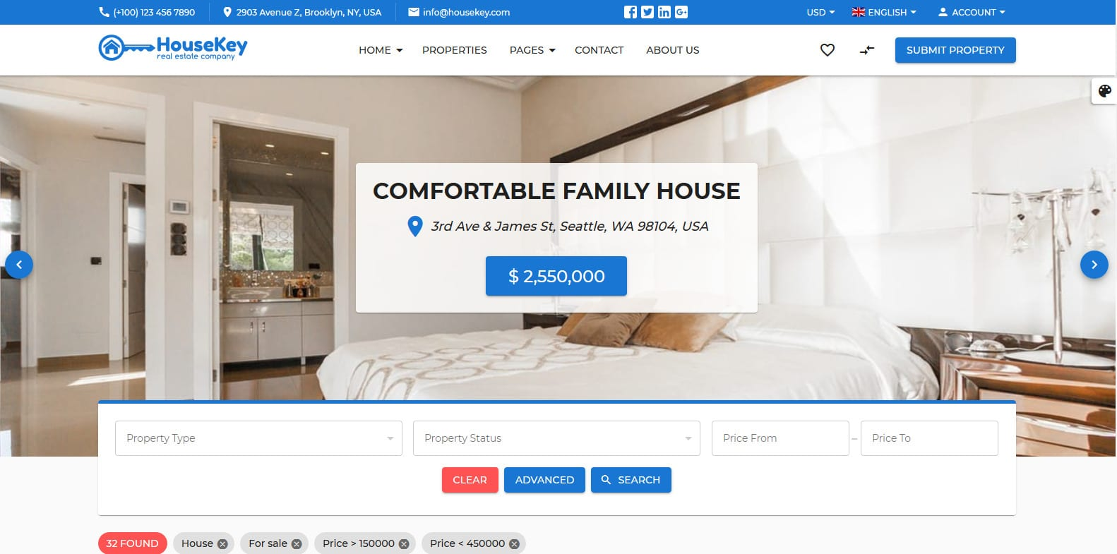 housekey-real-estate-website-template
