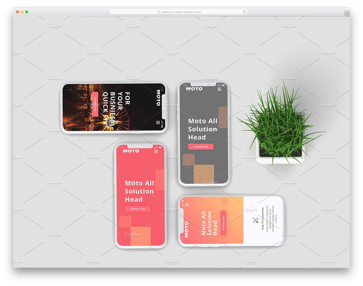 iPhone mockups for app developers