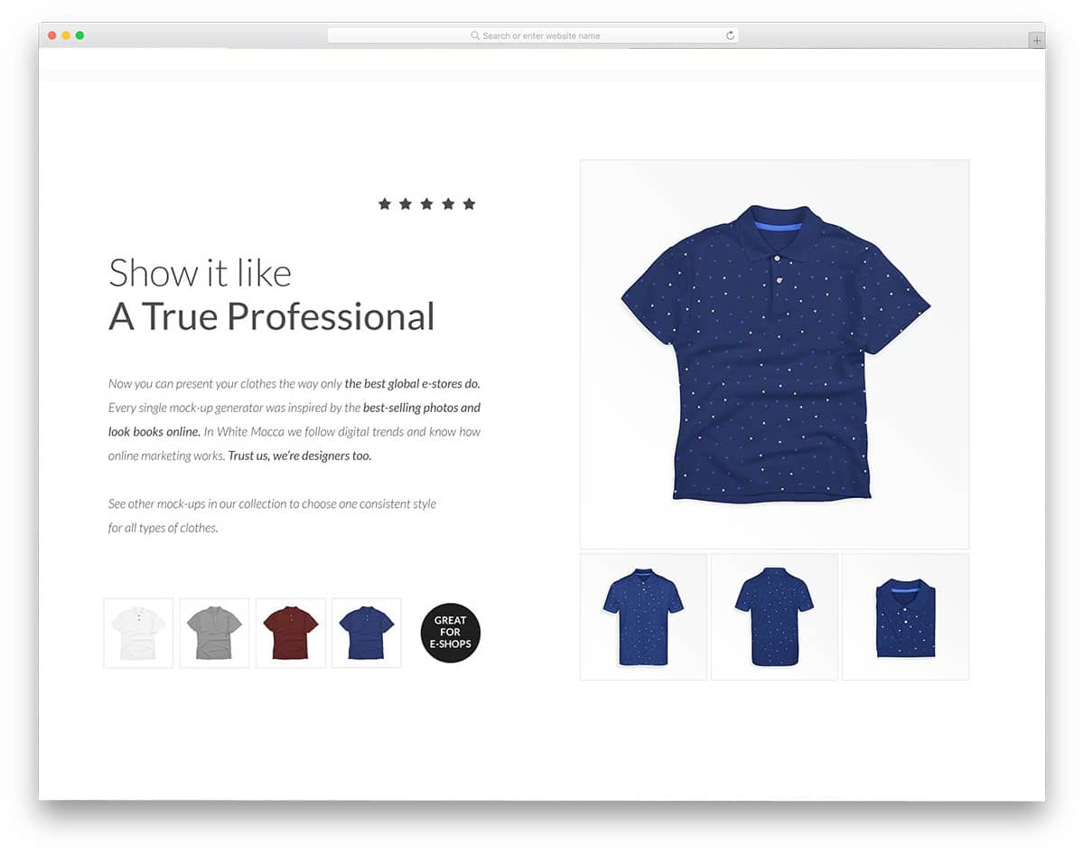 best shirt mockup for creating online store images