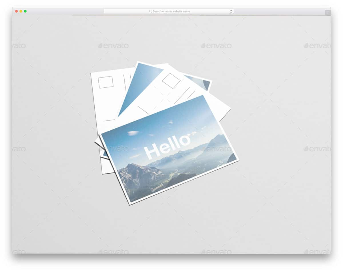 flyer and postcard mockup