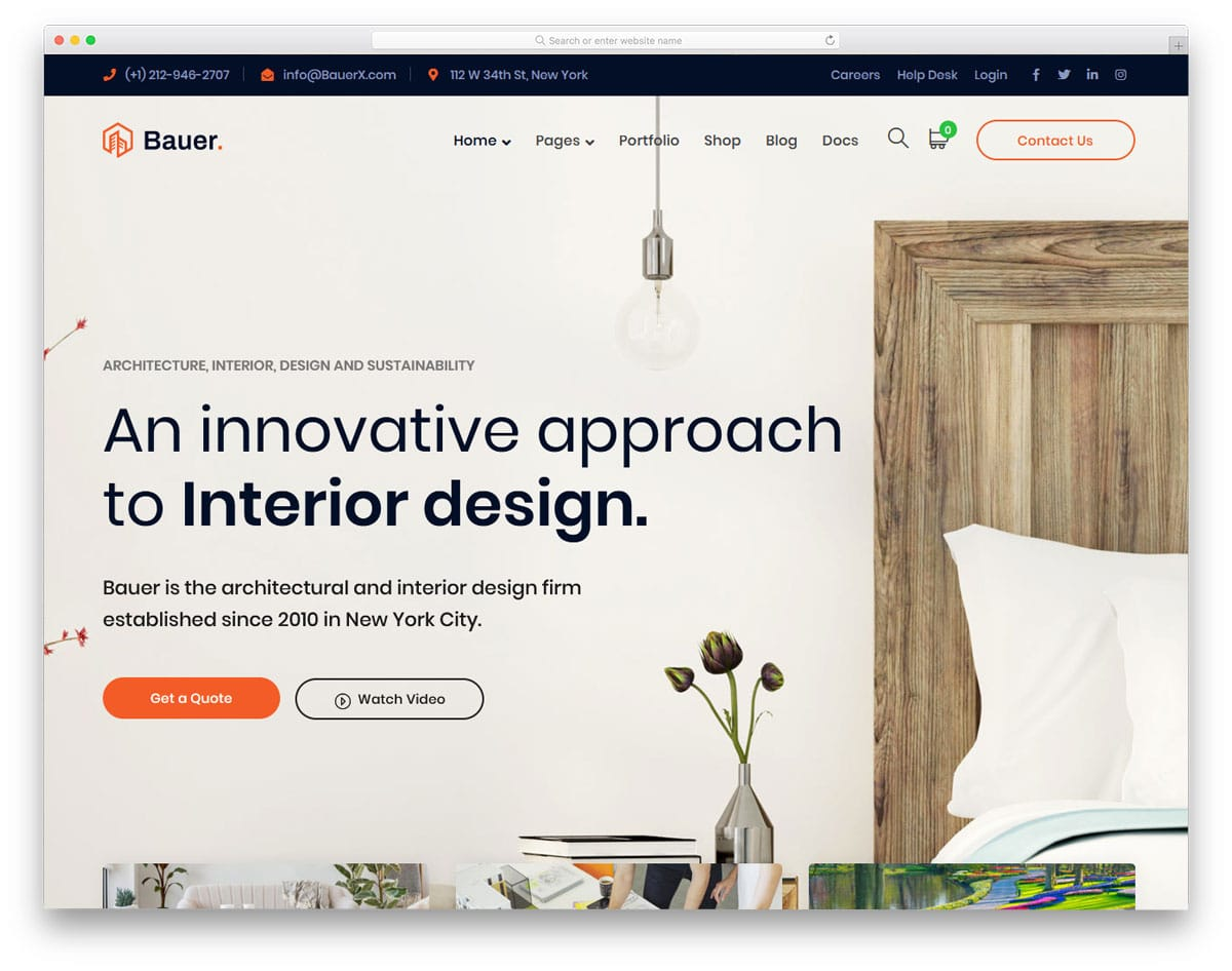 elegant looking interior design WordPress theme