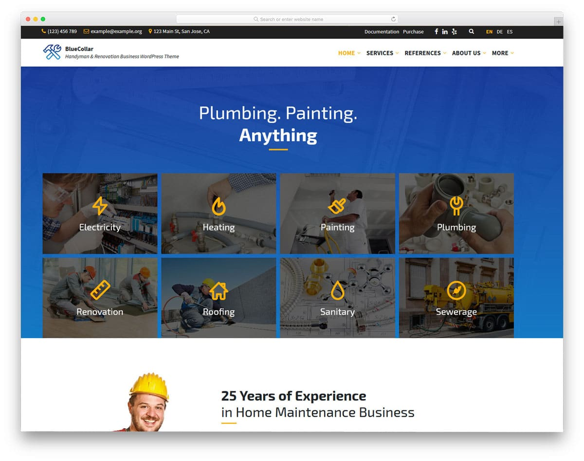 mulitpurpose house maintenance and service wordpress theme