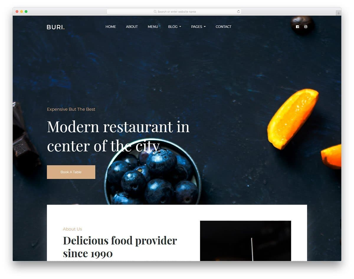 buri website template