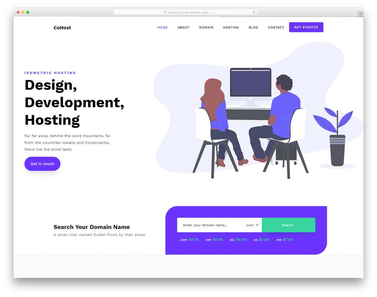 colorful and fresh looking hosting website template