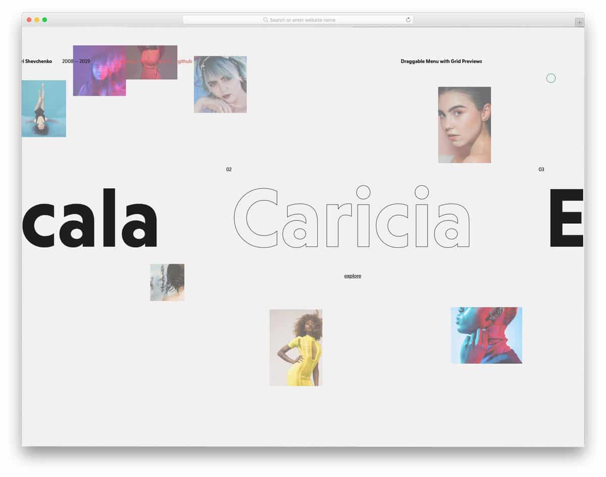 interactive menu design