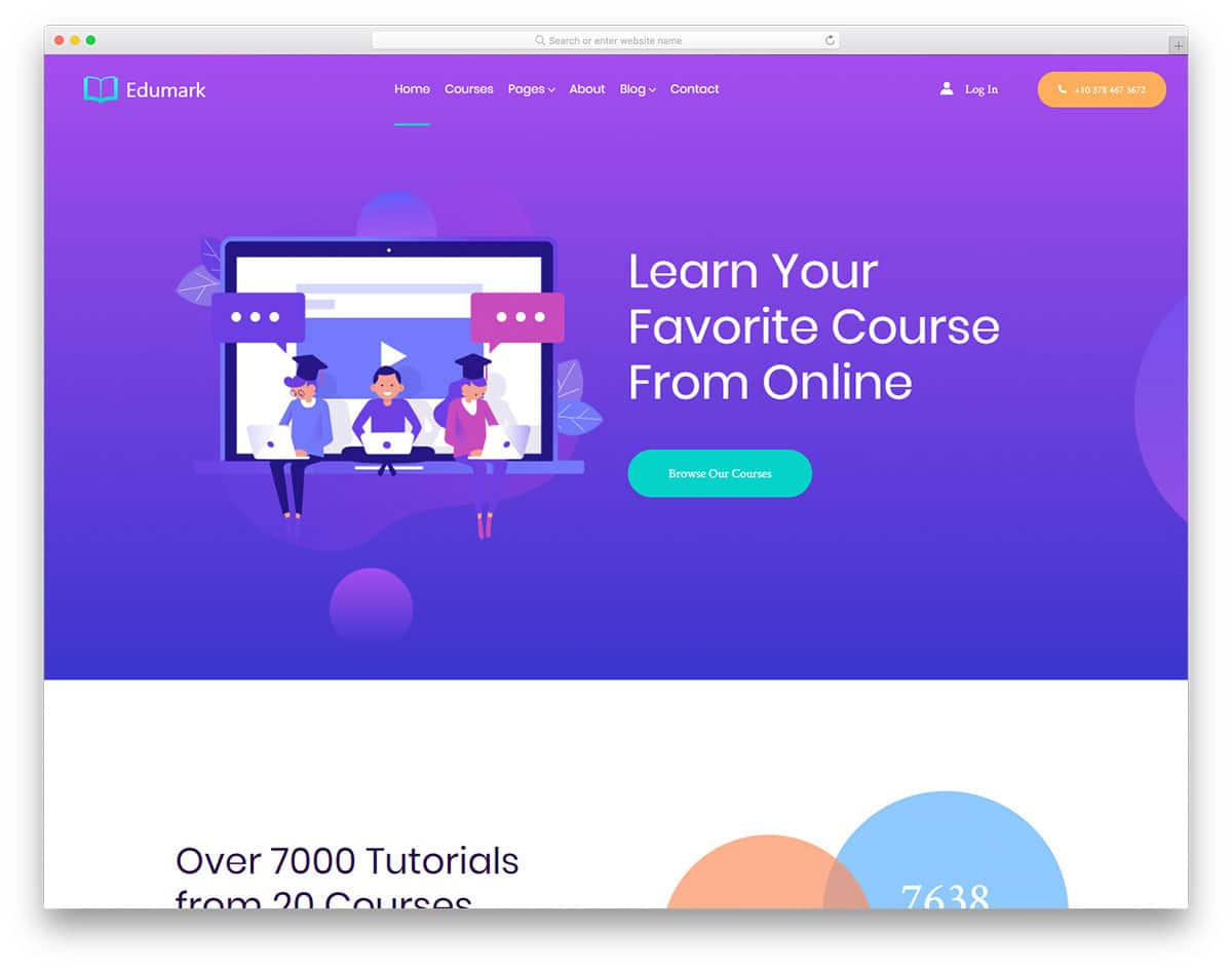 colorful modern website template