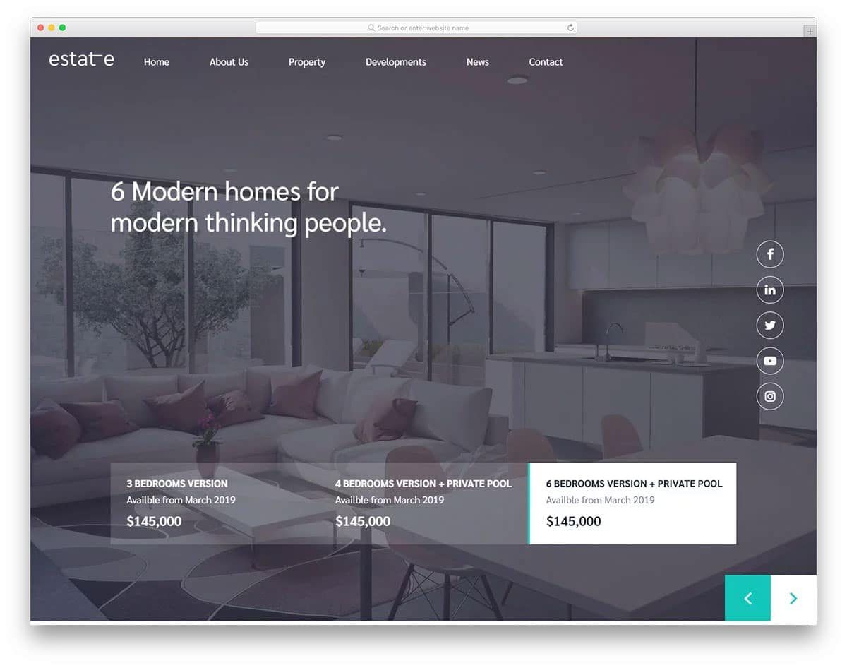 modern simple directory website template