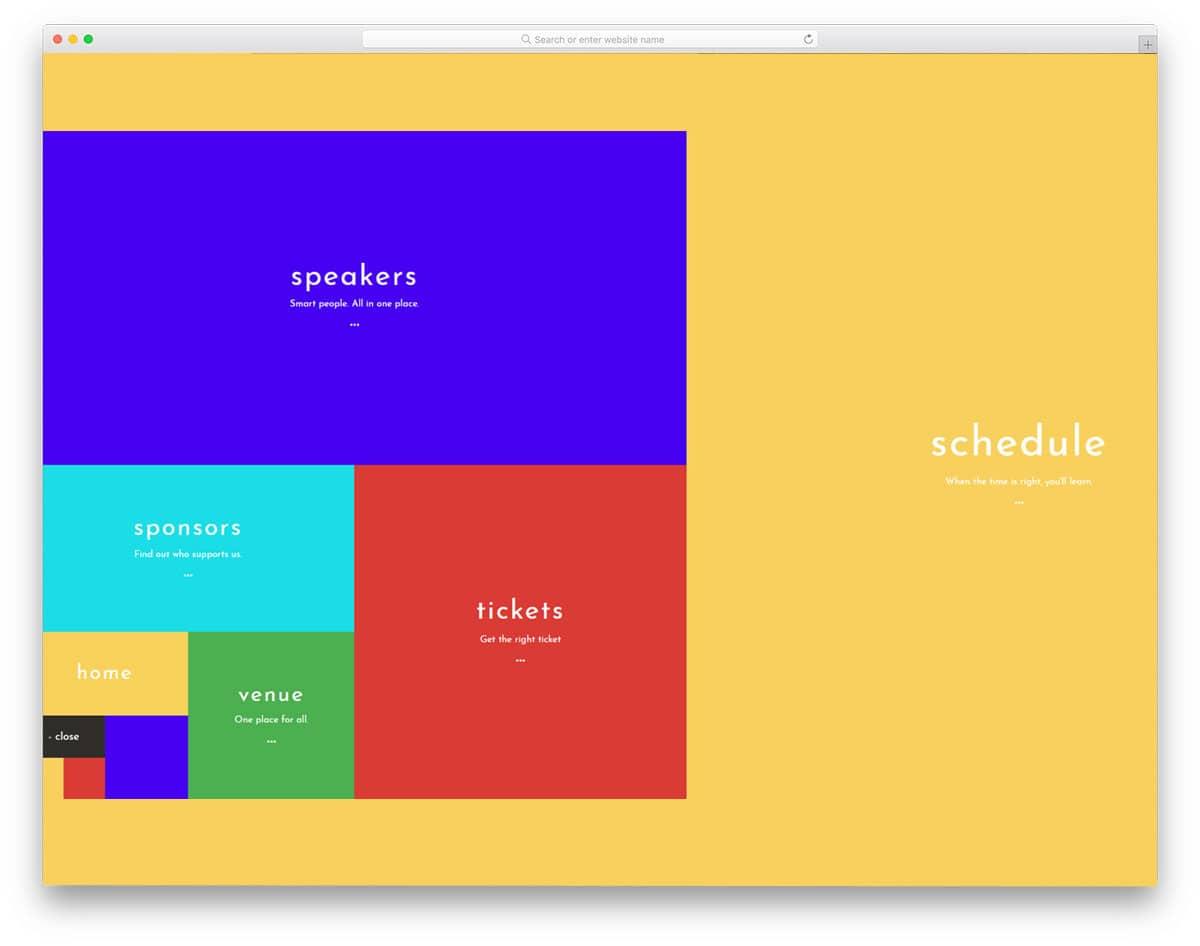 colorful windows tile style menu design