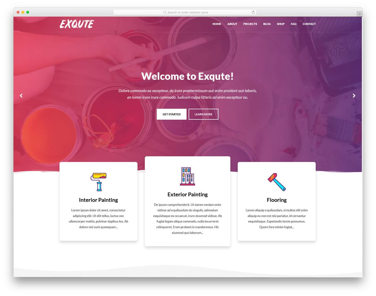 elementor based WordPress themes for painters