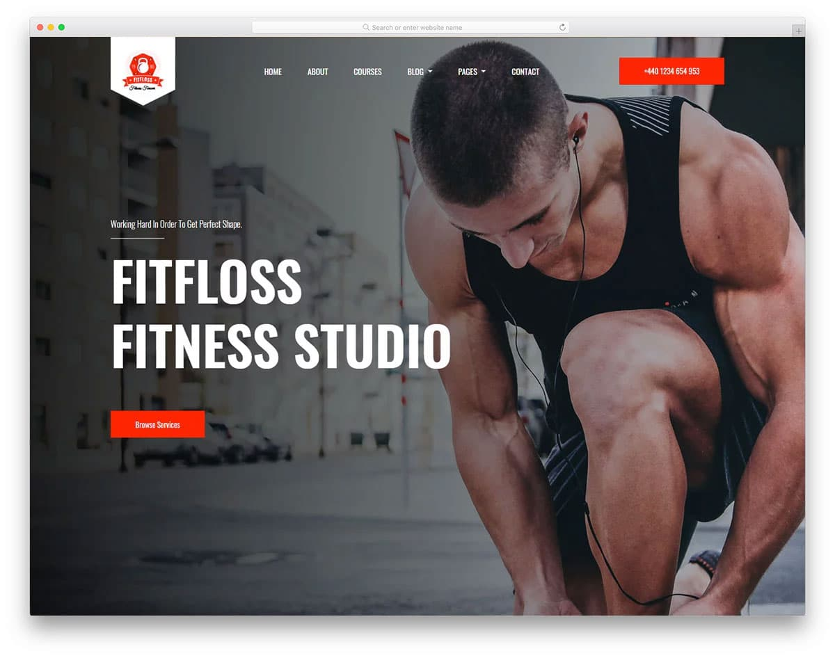 professional looking fitness website template
