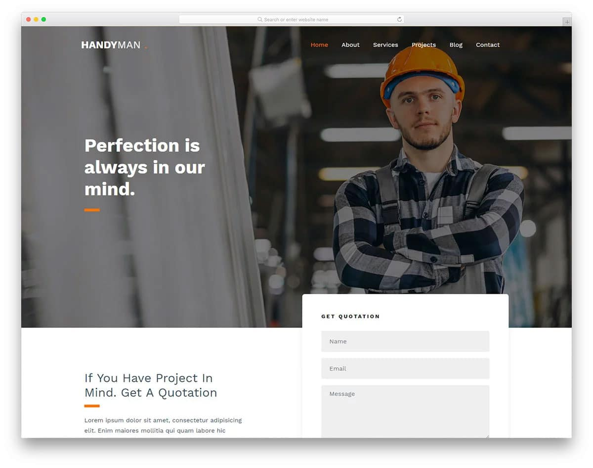 professional looking website template