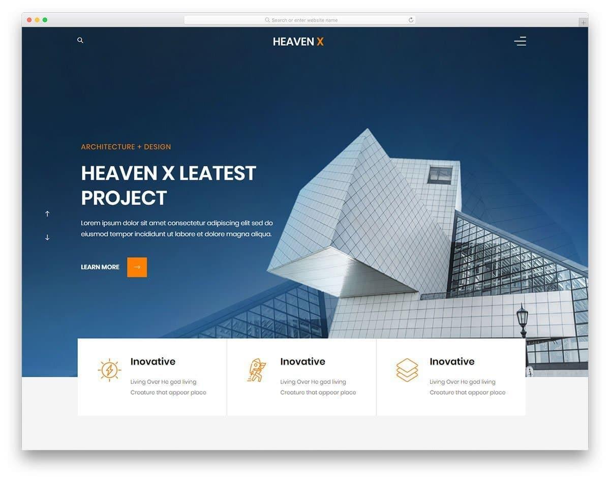 Heaven website template