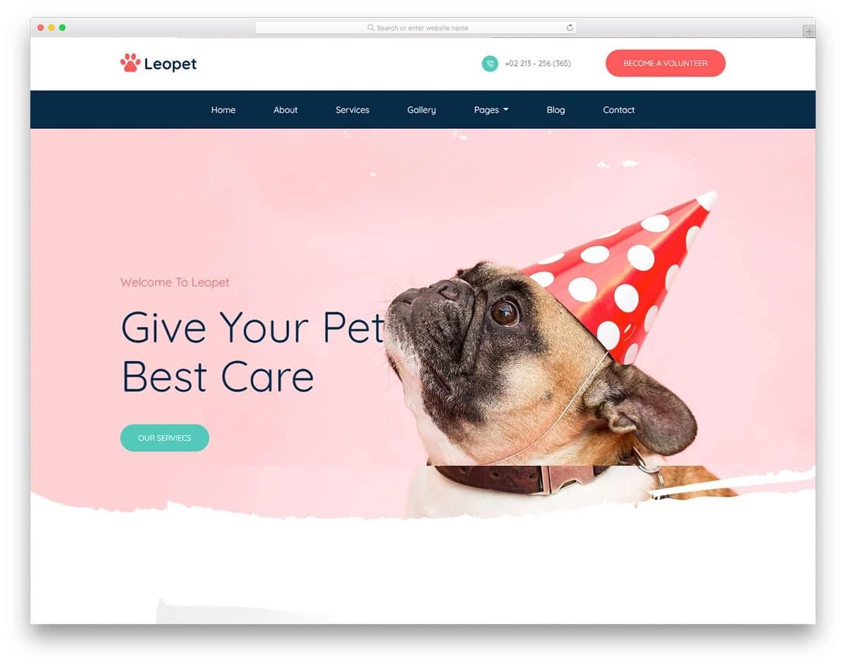 animal care website template