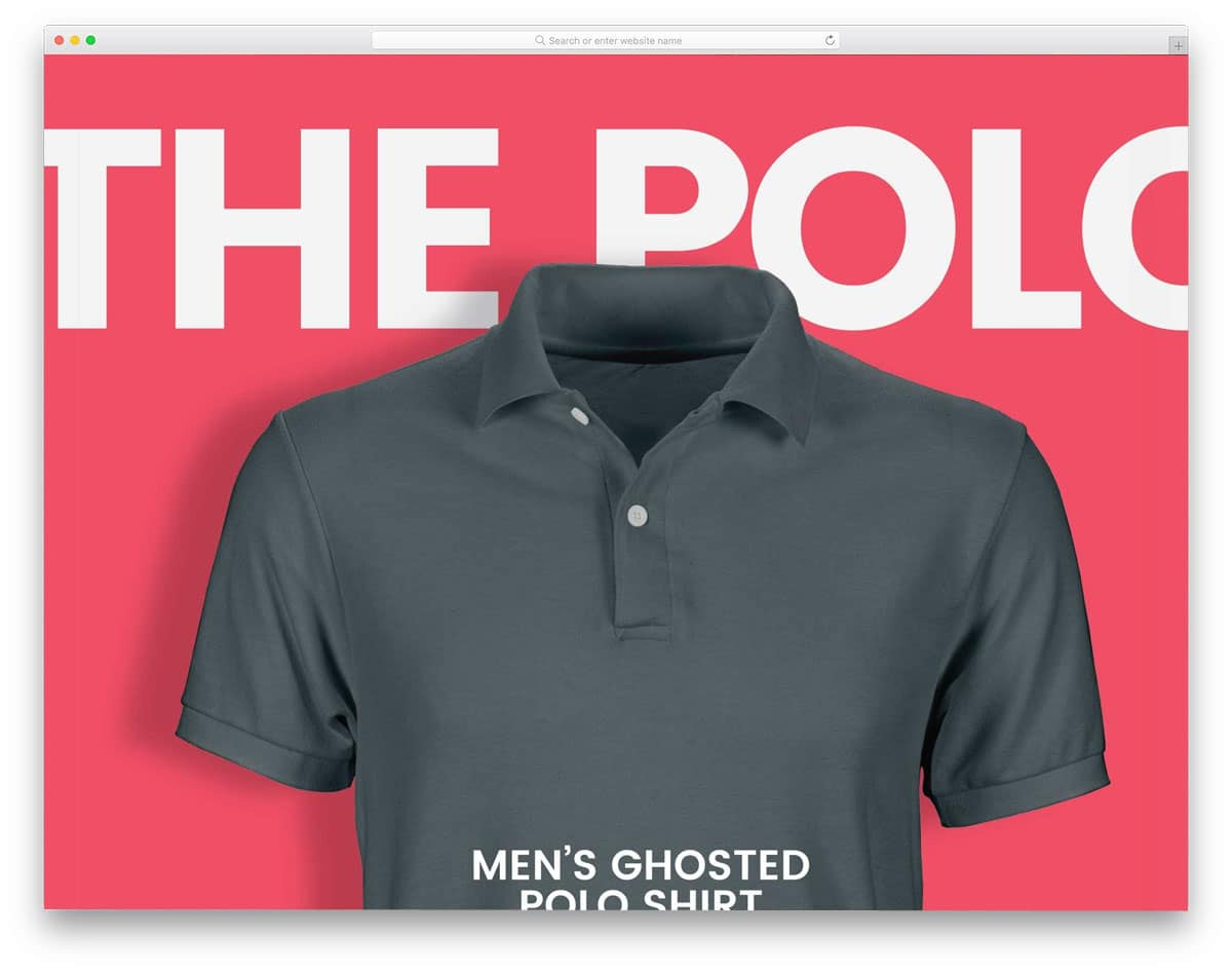 ghost men polo shirt mockup