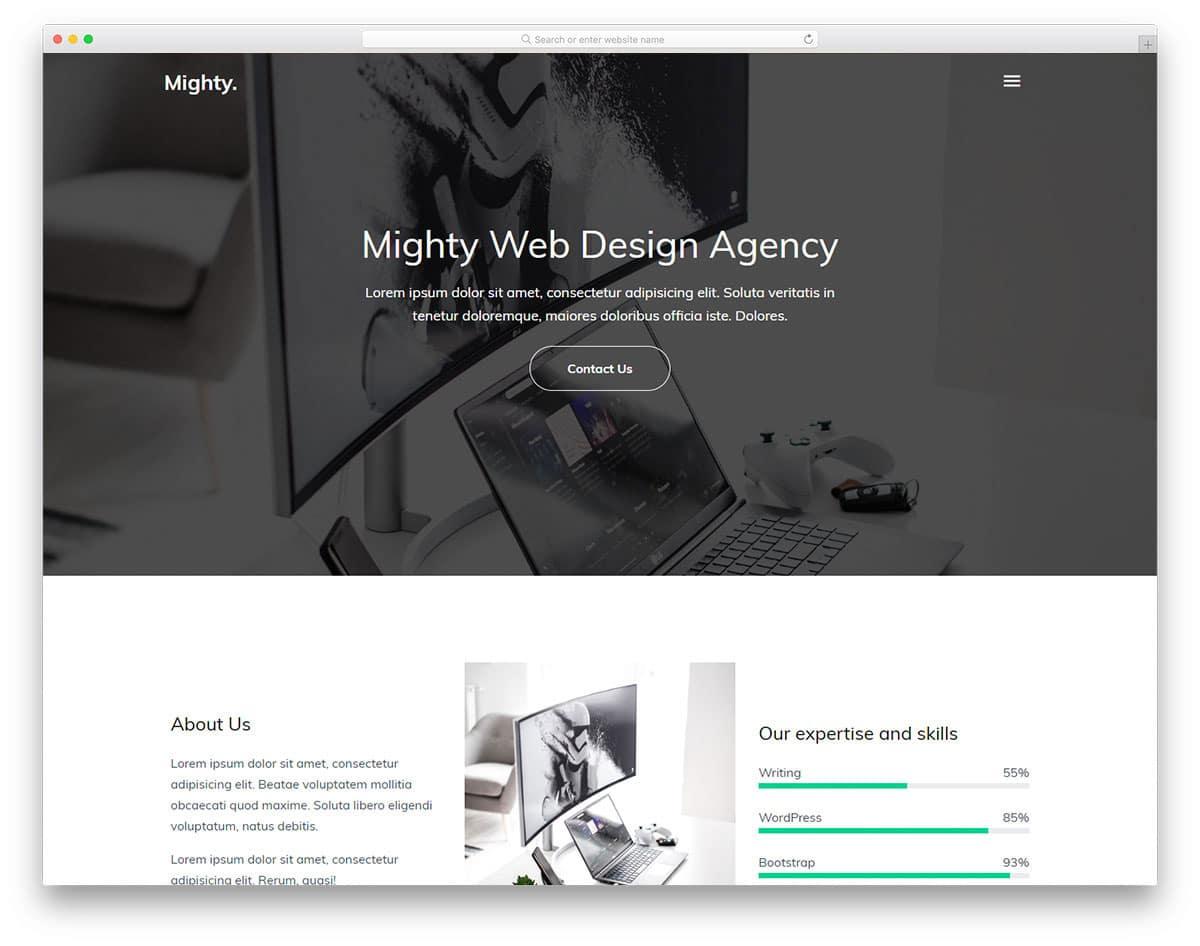 clean agency website template
