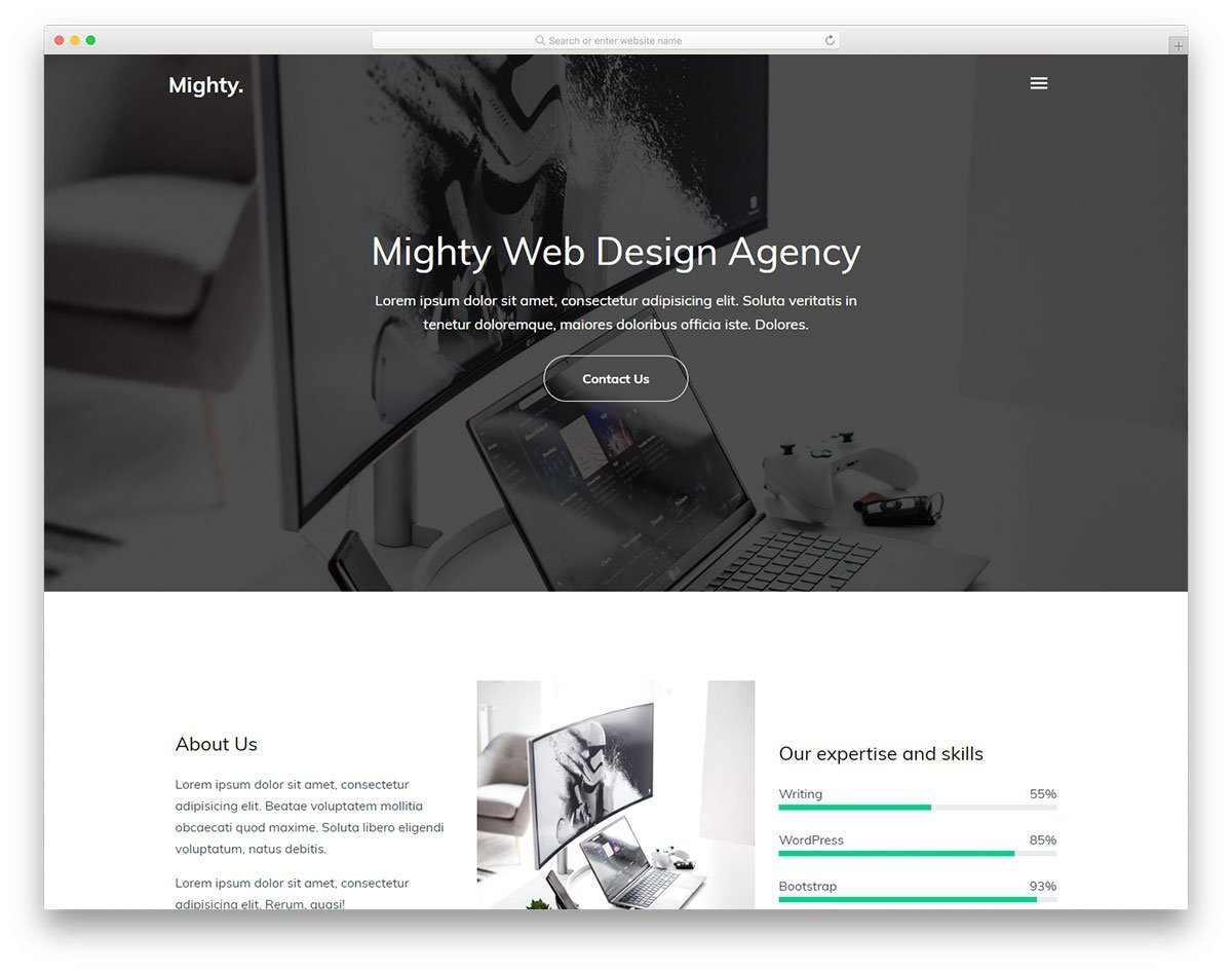 simple and elegant looking business portfolio website template