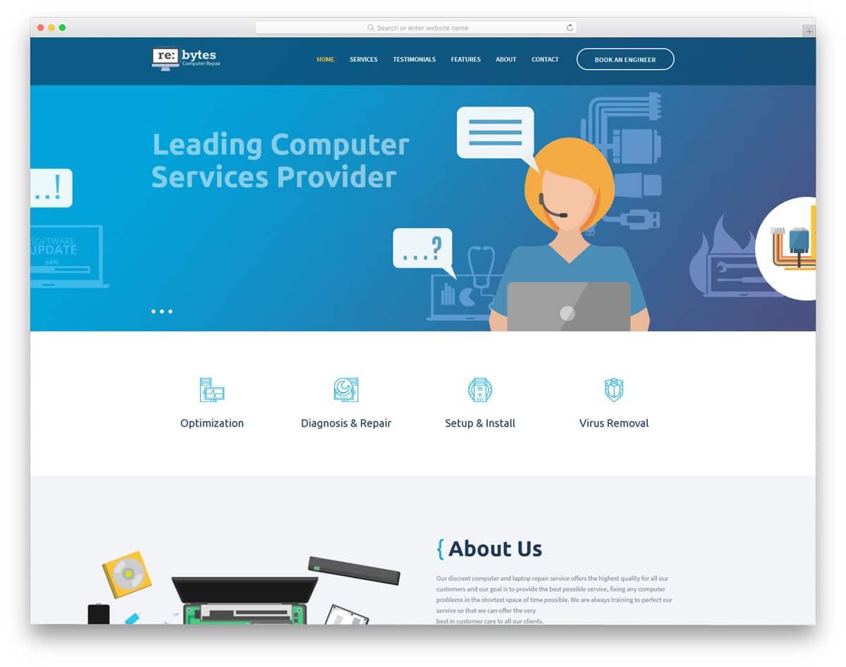 infographic style WordPress theme