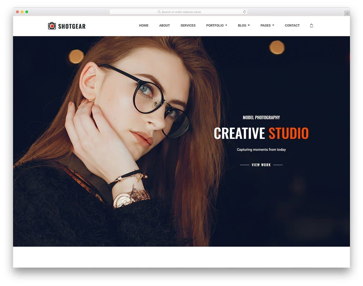 professional looking photography website template