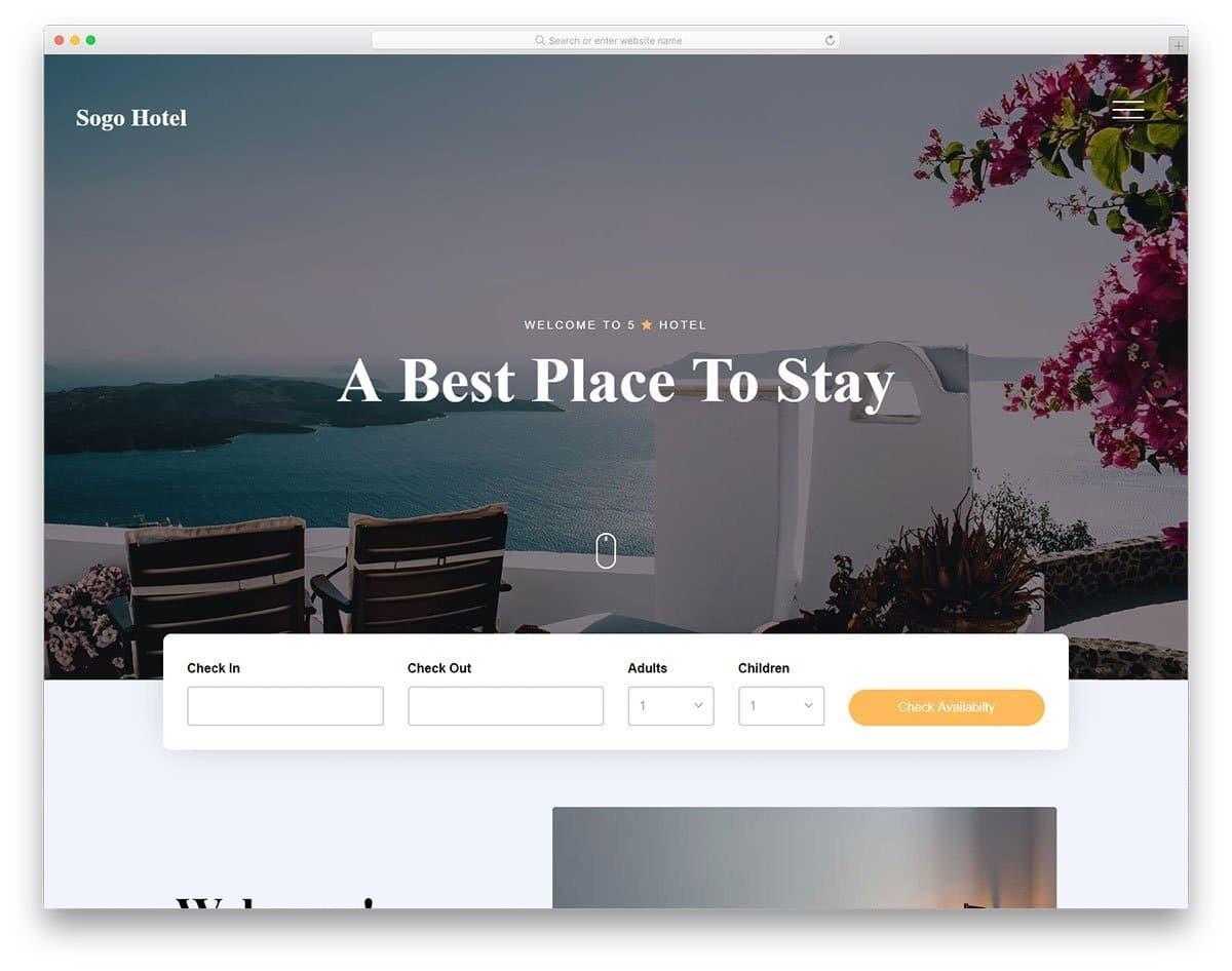clean looking website template