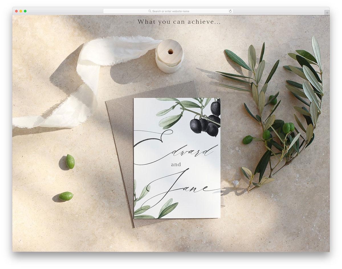 postcard mockup in a mediterranean summer ambience